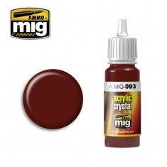 0093 CRYSTAL RED 17ml ACRYLIC PAINT FOR BRUSH   AIRBRUSH