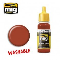 0109 WASHABLE RUST 17ml ACRYLIC PAINT FOR BRUSH   AIRBRUSH