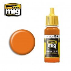 0129 ORANGE  17ml ACRYLIC PAINT FOR BRUSH   AIRBRUSH
