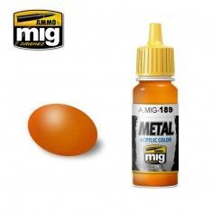 0189 METALLIC ORANGE 17ml ACRYLIC PAINT FOR BRUSH   AIRBRUSH