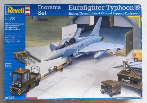 revell 1/72 04376 eurofighter typhoon groundplate & gse