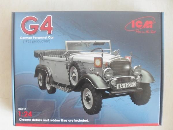 097e4412cc8754 ICM 1 24 24011 G4 GERMAN PERSONNEL CAR 1935 PRODUCTION Military ...