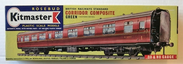 13 BRITISH RAILWAYS STANDARD CORRIDOR COMPOSITE GREEN  SOUTHERN REGION