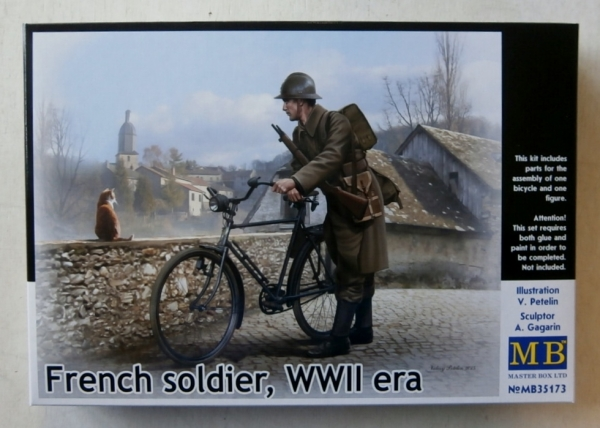 35173 FRENCH SOLDIER WWII ERA