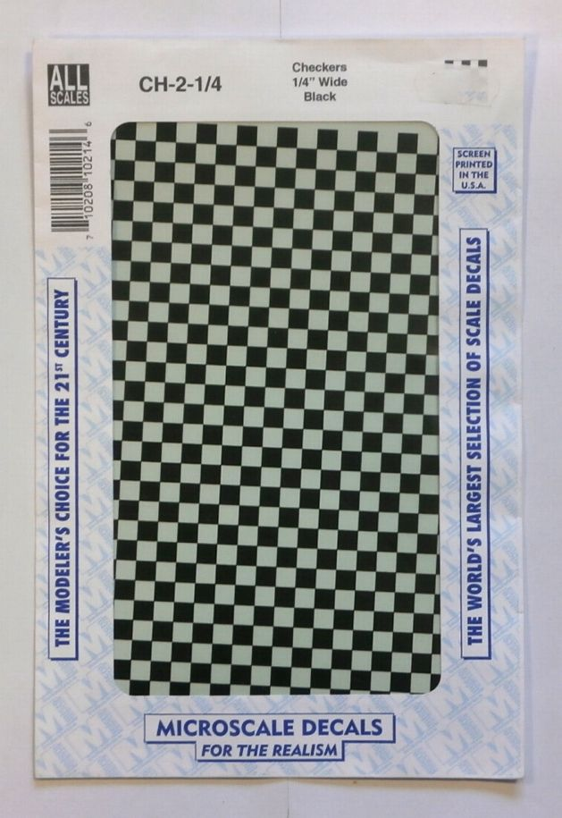 1495. CHECKERS QUARTER INCH WIDE BLACK