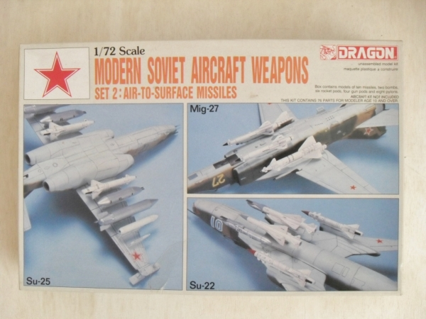 2505 MODERN SOVIET AIRCRAFT WEAPONS SET 2 AIR TO SURFACE MISSILES
