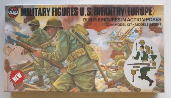 04586 US INFANTRY EUROPE 1941-45  6 FIGURES