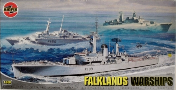 05205 FALKLANDS WARSHIPS HMS LEANDER AMAZON DEVONSHIRE