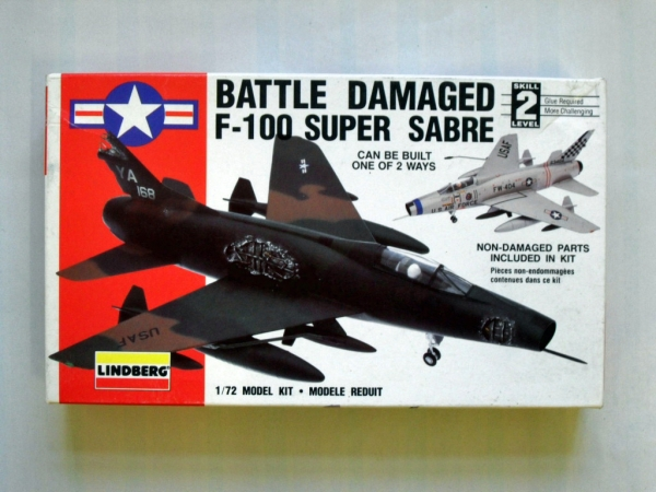 70964 F-100 SUPER SABRE BATTLE DAMAGED