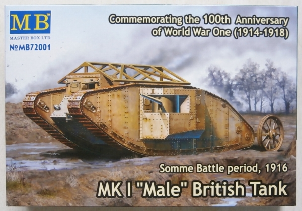 72001 Mk.I MALE BRITISH TANK SOMME BATTLE