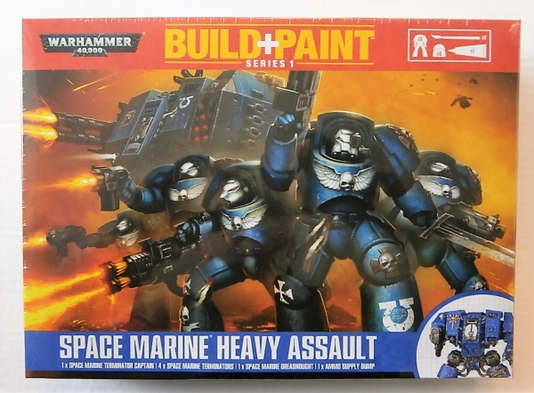 SPACE MARINE HEAVY ASSAULT BUILD   PAINT