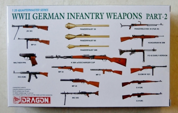 DRAGON 1/35 3816 WWII GERMAN INFANTRY WEAPONS PART 2