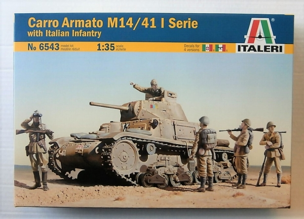 6543 CARRO ARMATO M14/41 I SERIE WITH ITALIAN INFANTRY