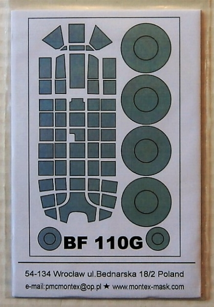 32053 MESSERSCHMITT Bf 110G  EXTERIOR CANOPY  MASKS FOR REVELL