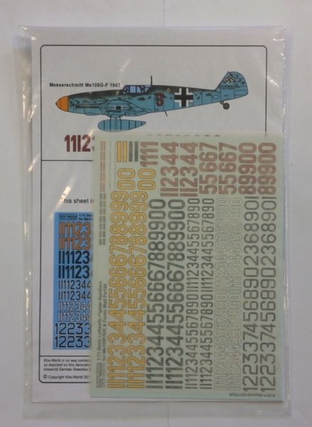 1336. 72029 LUFTWAFFE FIGHTER NUMBERS Me109F/G/K   FOCKE WULF Fw190