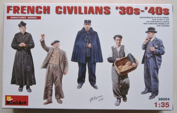 38004 FRENCH CIVILIANS 1930s-40s