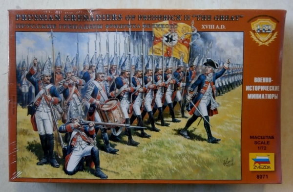 8071 PRUSSIAN GRENADIERS OF FREDERICK II THE GREAT