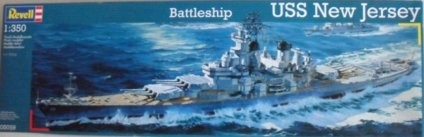 05059 USS NEW JERSEY  UK SALE ONLY