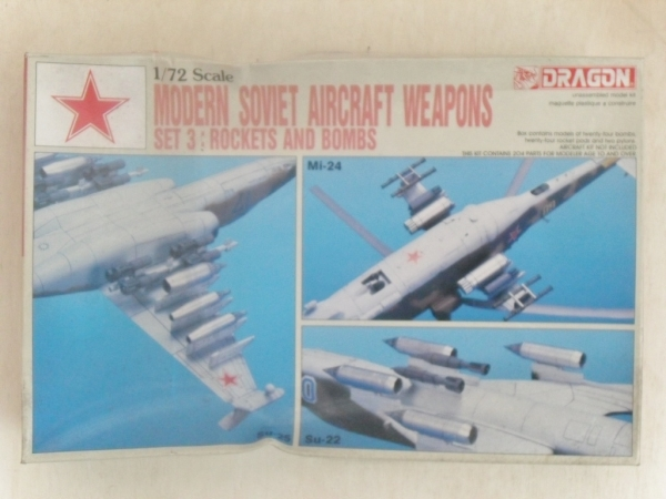 2506 MODERN SOVIET AIRCRAFT WEAPONS SET 3 ROCKETS   BOMBS