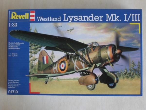 revell 1 32  REVELL 1/32 04710 WESTLAND LYSANDER Mk.I/III Model Kit