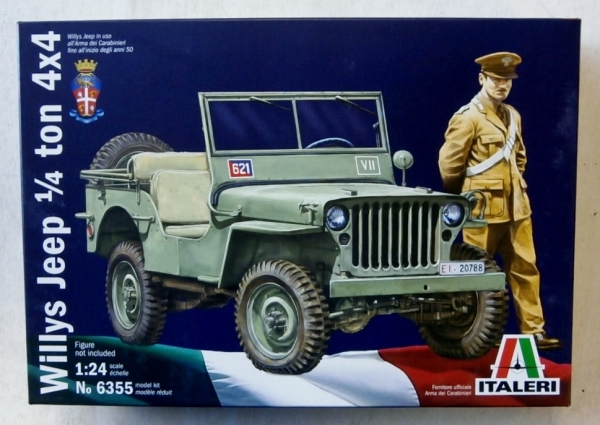 ITALERI 1/24 6355 WILLYS JEEP 1/4 TON 4x4 Military Model Kit