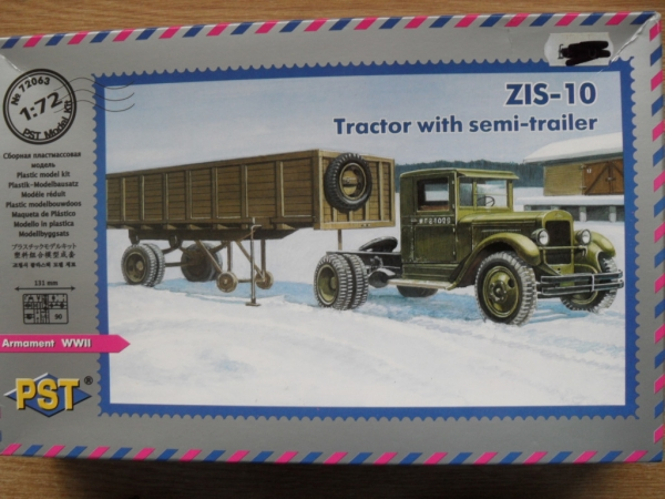 72063 ZIS-10 TRACTOR WITH SEMI TRAILER