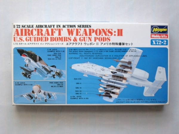 X72-2 AIRCRAFT WEAPONS II US GUIDED BOMBS   GUN PODS