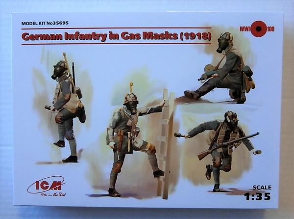ICM 35695 German Infantry in Gas Masks 1918 in 1:35