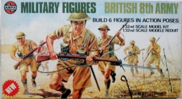 03580 BRITISH 8th ARMY  6 FIGURES