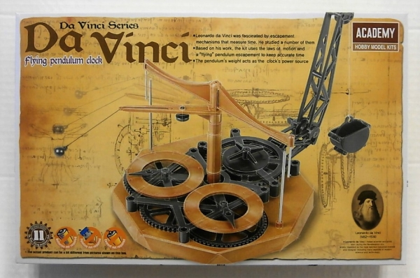 18157 LEONARDO DA VINCI FLYING PENDULUM CLOCK