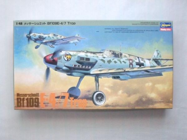 HASEGAWA 1/48 J3 MESSERSCHMITT Bf 109E-4/7 TROP