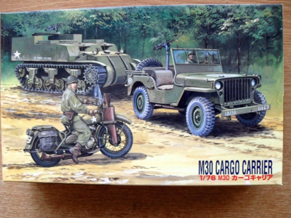 76056 M30 CARGO CARRIER WITH JEEP AND MOTORBIKE