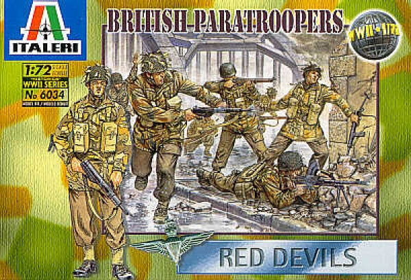 6034 WWII BRITISH PARATROOPS