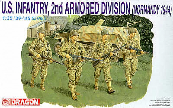 6120 US INFANTRY 2nd ARMOURED DIVISION NORMANDY 1944
