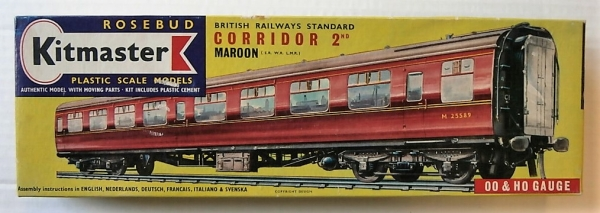 14 BRITISH RAILWAY STANDARD CORRIDOR 2ND MAROON