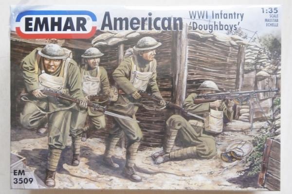 """EMHAR EM3509 American WW.I Infantry /""""Doughboys/"""" 1:35"""