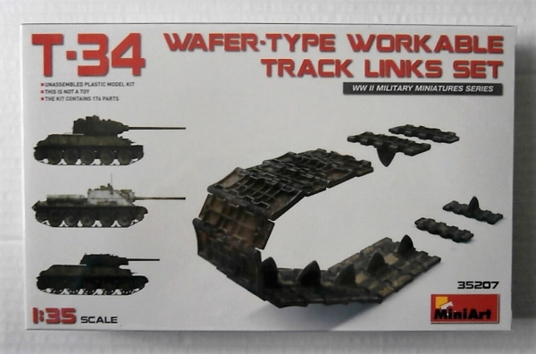 35207 T-34 WAFER TYPE WORKABLE TRACK LINKS SET