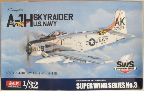 SUPER WING SERIES NO.3 A-1H SKYRAIDER US NAVY