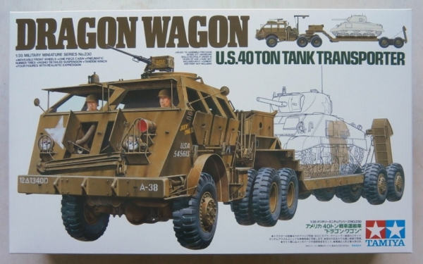 35230 DRAGON WAGON US 40 TON TANK TRANSPORTER  UK SALE ONLY