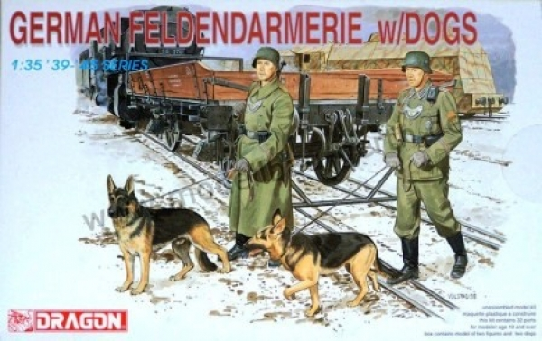 6098 GERMAN FELDGENDARMERIE w/DOGS