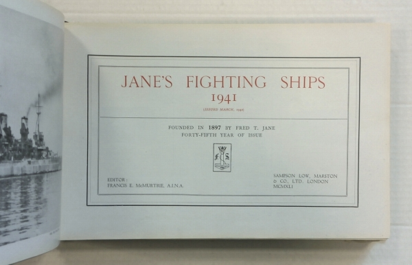 ZB707 JANES FIGHTING SHIPS 1941