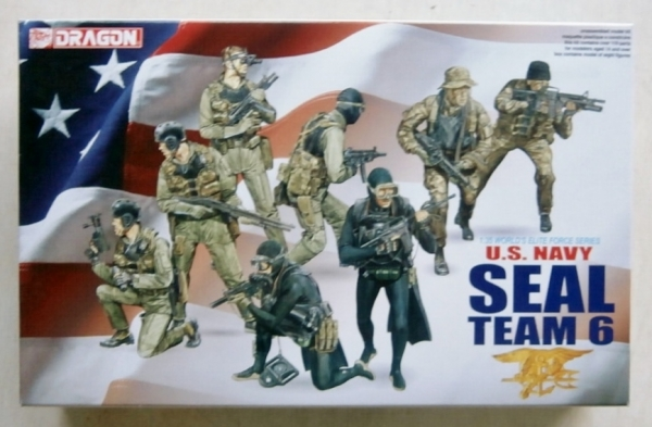 DRAGON 1/35 3028 US NAVY SEAL TEAM 6 Military Model Kit
