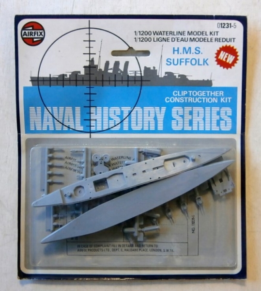 AIRFIX 1/1200 01231 HMS SUFFOLK Model Kit