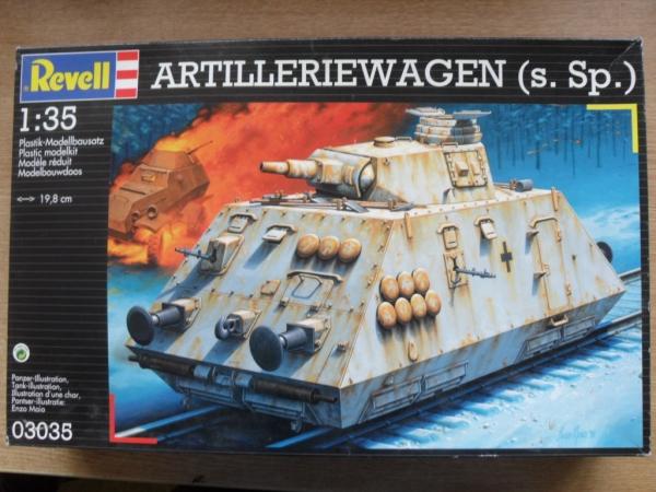 revell 1 35  REVELL 1/35 03035 ARTILLERY RAIL CAR Military Model Kit