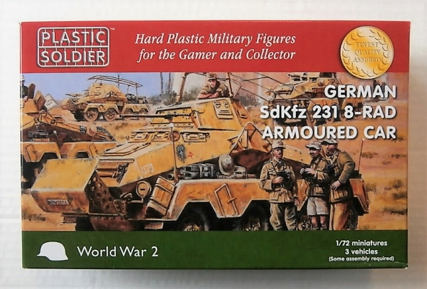 PLASTIC SOLDIER 1/72 WW2V20025 GERMAN Sd Kfz 231 8-RAD ARMOURED CAR