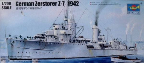 05793 GERMAN ZERSTORER Z-7 1942