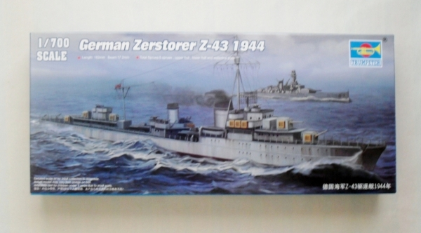 05789 GERMAN ZERSTORER Z-43 1944