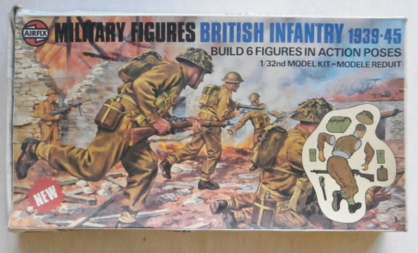 04585 BRITISH INFANTRY EUROPE  6 FIGURES