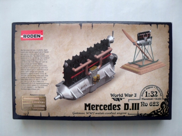 623 MERCEDES D.III GERMAN WWI WATER COOLED ENGINE
