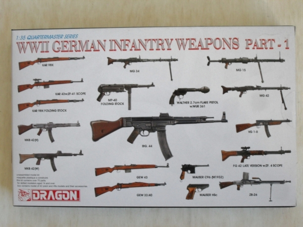 3809 WWII GERMAN INFANTRY WEAPONS PART 1